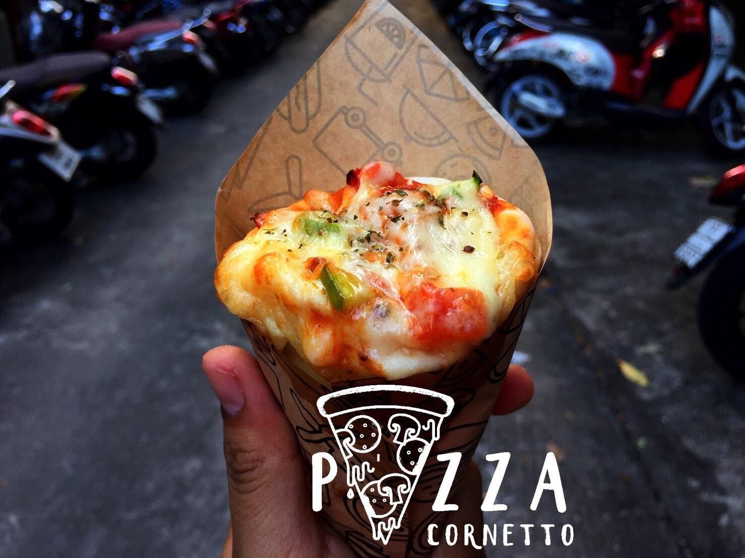 pizza cornetto